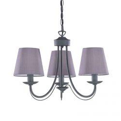 Tre lyskilder lysekrone Cortez, grå