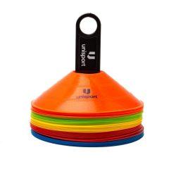 Unisport Kjegler 30 stk. - Multicolor
