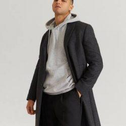 William Baxter Frakk Dean Wool Coat Grå