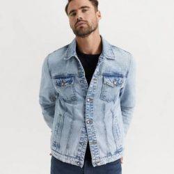 William Baxter Jeansjakke Everyday Denim Jacket Blå