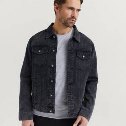 William Baxter Jeansjakke Everyday Denim Jacket Svart