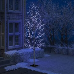 vidaXL Juletre 1200 lysdioder blått lys kirsebærblomst 400 cm