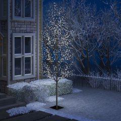 vidaXL Juletre 1200 lysdioder kaldhvitt lys kirsebærblomst 400 cm