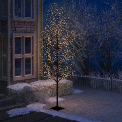 vidaXL Juletre 1200 lysdioder varmhvitt lys kirsebærblomst 400 cm
