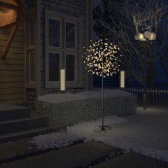 vidaXL Juletre 200 lysdioder varmhvitt lys kirsebærblomst 180 cm
