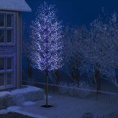 vidaXL Juletre 2000 lysdioder blått lys kirsebærblomst 500 cm