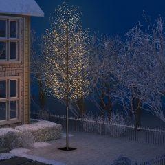 vidaXL Juletre 2000 lysdioder varmhvitt lys kirsebærblomst 500 cm