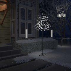 vidaXL Juletre 220 lysdioder kaldhvitt lys kirsebærblomst 220 cm