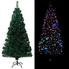 vidaXL Kunstig juletre med stativ grønn 120 cm PVC