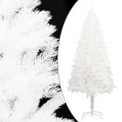 vidaXL Kunstig juletre med stativ hvit 210 cm PE