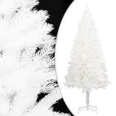 vidaXL Kunstig juletre med stativ hvit 240 cm PE