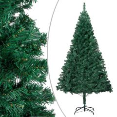 vidaXL Kunstig juletre med tykke grener grønn 210 cm PVC