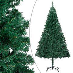 vidaXL Kunstig juletre med tykke grener grønn 240 cm PVC