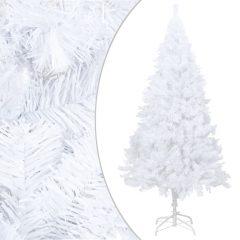 vidaXL Kunstig juletre med tykke grener hvit 240 cm PVC