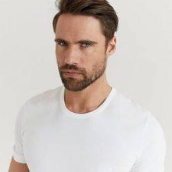 BOSS T-shirt 3-Pk Round Neck T-shirt Hvit