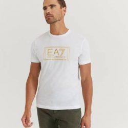 EA7 Emporio Armani T-skjorte Gold Label Tee Hvit