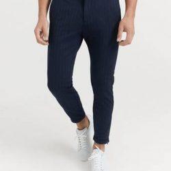 GABBA Bukse Pisa Pinstripe Blå