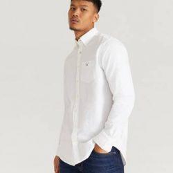 Gant Skjorte The Oxford Shirt Reg BD Hvit