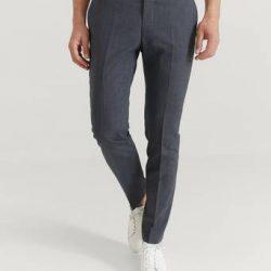 Pour Dressbukse Danny Suit Trousers Grå