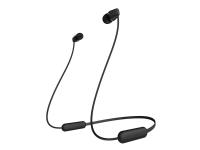 Sony WI-C200 - Ørepropper med mikrofon - i øret - Bluetooth - trådløs - svart