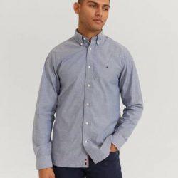 Tommy Hilfiger Skjorte Flex Refined Oxford Shirt Blå
