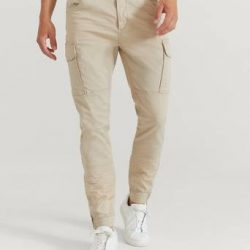 William Baxter Cargobukse Army Cargo Trousers Beige