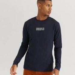 Wood Wood Langermet T-shirt Peter Long Sleeve Blå