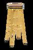 Barstol FARLEY gullfarget metall/tre