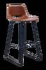 Barstol Zahara i syntetskinn, sittehøyde 65 cm, 2-pk
