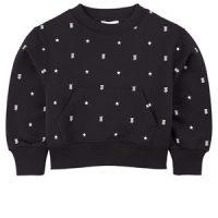 Burberry Star and Monogram Motif Sweatshirt Black 8 år