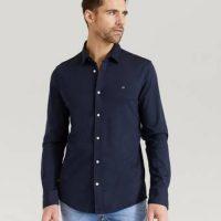 Calvin Klein Skjorte Slim Fit Knitted Shirt Blå
