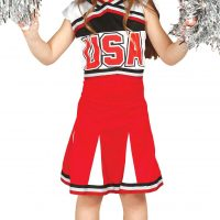 Fiestas Guirca Kostyme Cheerleader 7-9 År