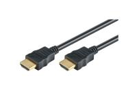 M-CAB High Speed - HDMI-kabel - HDMI (hann) til HDMI (hann) - 1.5 m - svart - 4K-støtte