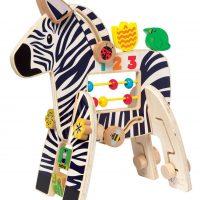 Manhattan Toys Aktivitetsleke 12m+ Safari Zebra Center