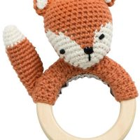 Sebra Fox Heklet Rangle, Fox Tail Red