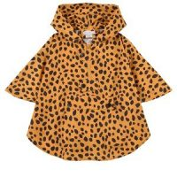 Stella McCartney Kids Orange Wild Cats Hooded Poncho 8 år