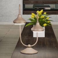 1680/2L bordlampe med 2 lyskilder, havana beige