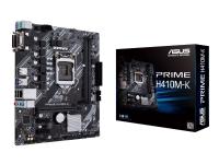 ASUS PRIME H410M-K - Hovedkort - mikro ATX - LGA1200-sokkel - H410 - USB 3.2 Gen 1 - Gigabit LAN - innbygd grafikk (CPU kreves) - HD-lyd (8-kanalers)