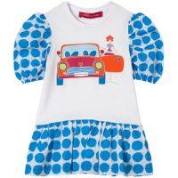 Agatha Ruiz de la Prada Polkadot Print Car Kjole Blå 2 år