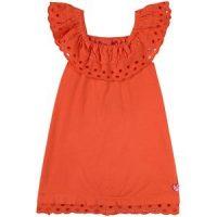 Agatha Ruiz de la Prada Ruffle Kjole Oransje 8 år