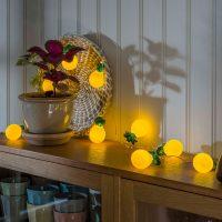 Ananas LED-lyslenke, batteridrevet
