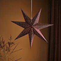 Barque dekor.stjerne til opphe., Ø 75 cm, bordeaux