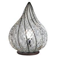Bordlampe Goccia, håndlaget, klar