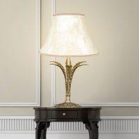 Bordlampe Palmera, antikkgull, 1 lyskilde