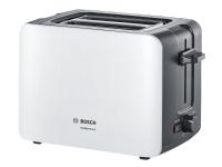 Bosch ComfortLine TAT6A111 - Brødrister - 2 skive - 2 Spor - hvit/mørkegrå