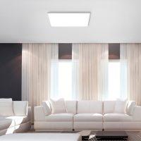 Canvas LED-taklampe, tunable white, 60 cm
