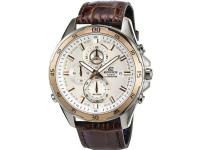 Casio Kronograf Armbåndsur EFR-547L-7AVUEF (L x B x H) 54 x 47.2 x 13.9 mm Guld, Brun Kabinetmateriale=Rustfrit stål Materiale (armbånd)=Læder