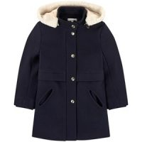 Chloé Wool and polyamide broadcloth coat 14 år