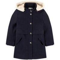 Chloé Wool and polyamide broadcloth coat 4 år