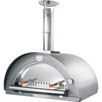 Clementi Family Vedfyrt Pizzaovn 100x80 cm, Rustfritt stål